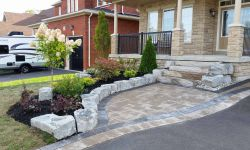 driveway construction project in courtice ontario